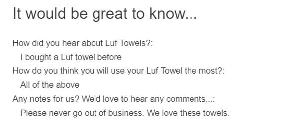Elizabeth Luf turkish towel review