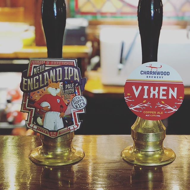 We have two fantastic Leicestershire gust ales on this week.  Vixen from Charnwood Brewery a 4.4% copper ale and New England IPA 4.4% hoppy, cloudy ale an everards special brew for the World Cup.