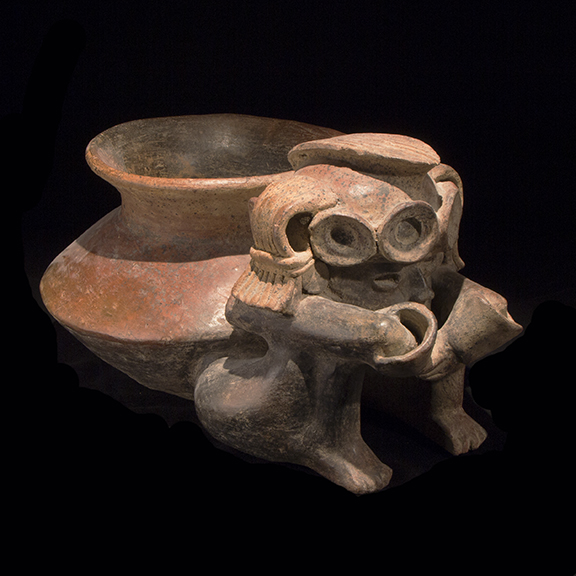 West Mexico Warrior with Bowl
