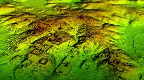 Tikal as seen with LiDAR