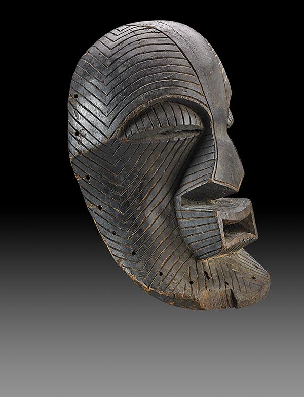 Lot 96. Allen Stone Auction. October 19, 2018  LUBA-SONGYE, KIFWEBE MASK, CONGO   Estimate:  $100,000 - $150,000