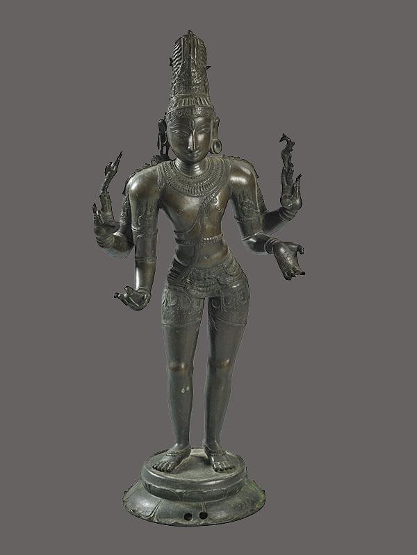 Lot 209. Allen Stone Auction. October 19, 2018  SHIVA SCULPTURE, SOUTH INDIA   Estimate:  $800 - $1,200