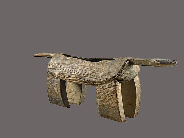 Lot 88. Allen Stone Auction. October 19, 2018  LOBALA, BUFFALO-FORM SLIT GONG, CONGO   Estimate:  $20,000 - $40,000