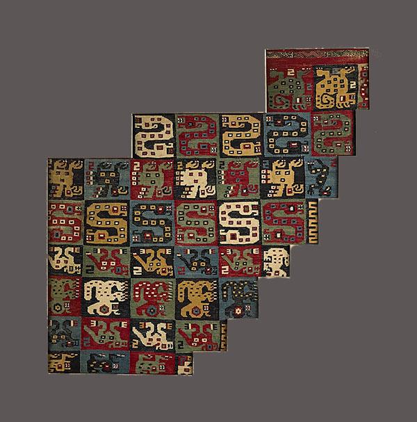Lot 168. Allen Stone Auction. October 19, 2018  HUARI, MANTLE FRAGMENT, PERU   Estimate:  $1,000 - $1,500