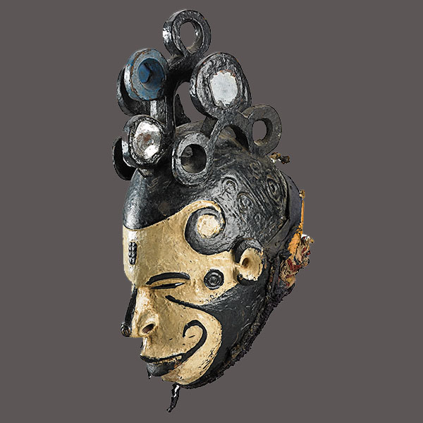 Lot 29. Allen Stone Auction. October 19, 2018  IGBO, MAIDEN SPIRITS (MMWO) MASK, NIGERIA   Estimate:  $400 - $600