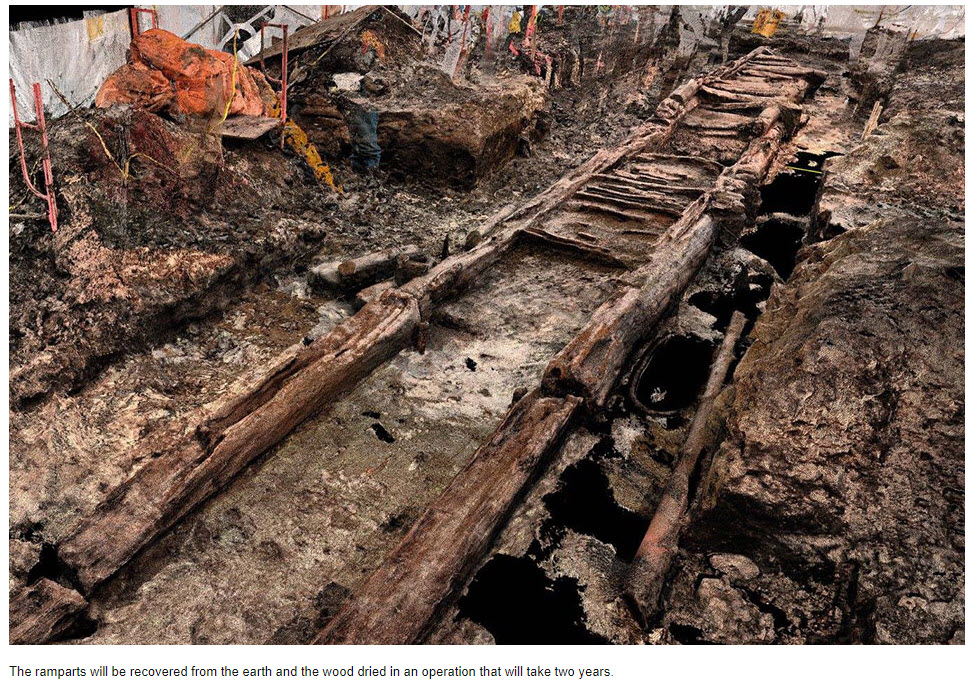 Quebec ramparts unearthed.jpg