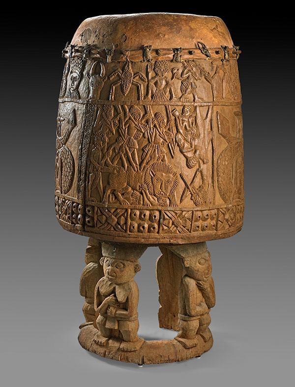 Bamum drum, Cameroon, 1st quarter 20th century