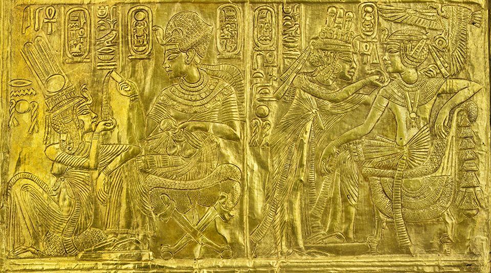 cairo egyptian museum-golden shrine of a statue-carter108