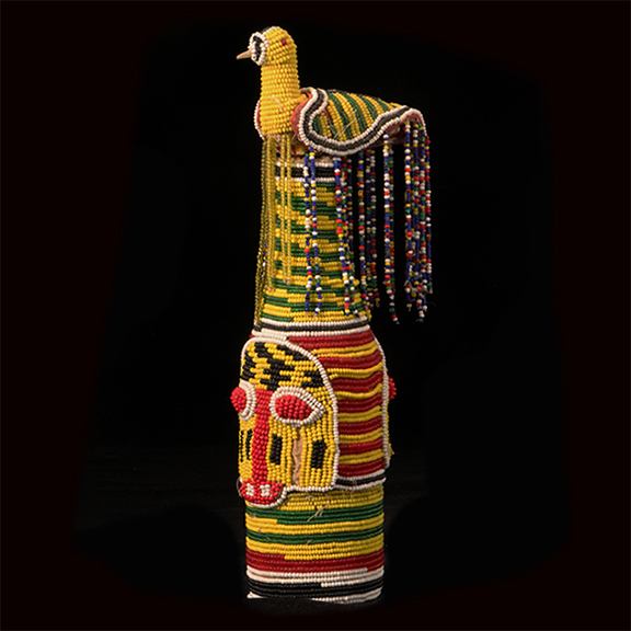Beaded Yoruba Bottle