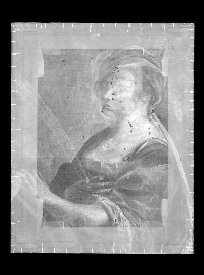 X-radiograph of Galleria degli Uffizi's St. Catherine of Alexandria  credit: Galleria degli Uffizi for both