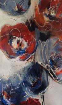 Floral Formations III, acrylic on canvas