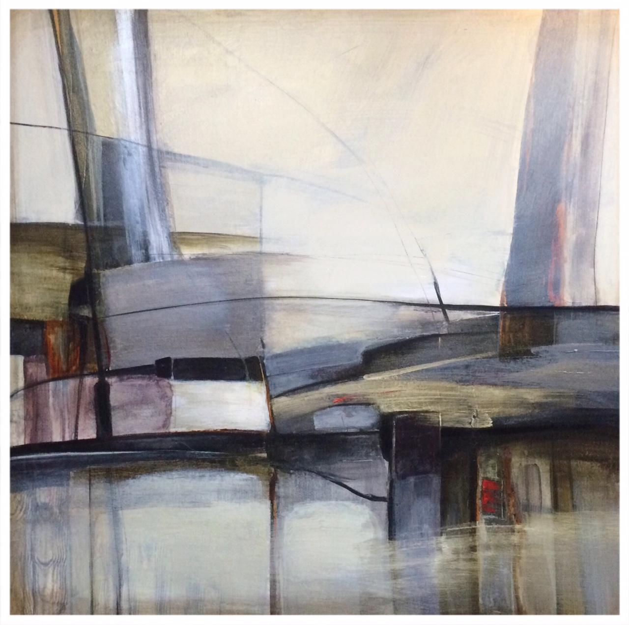 Inner City Rhythm, acrylic on canvas
