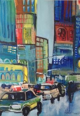 Downtown Blues I 48 x 34