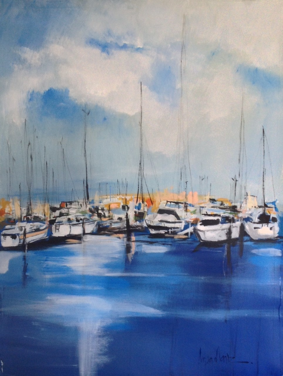 Harbour Waters I 40 x 30