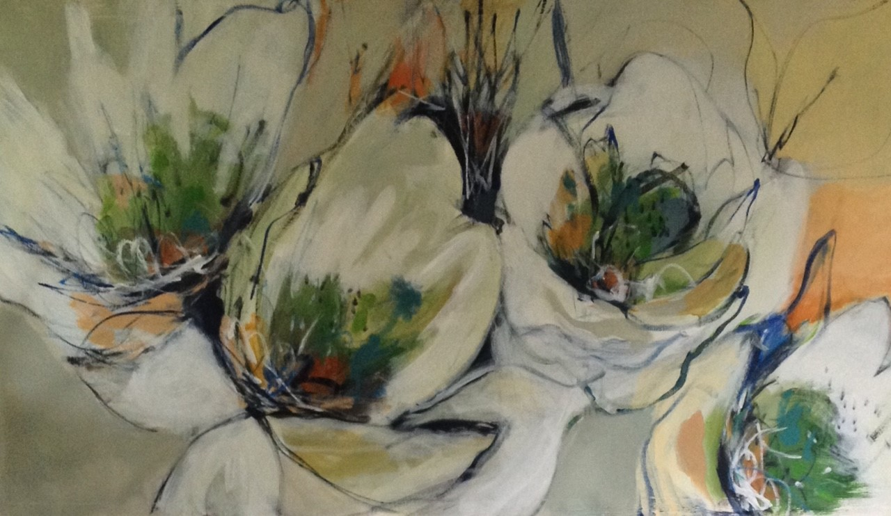 Morning Blooms I 30 x 57