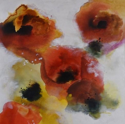 Poppies I 24x24