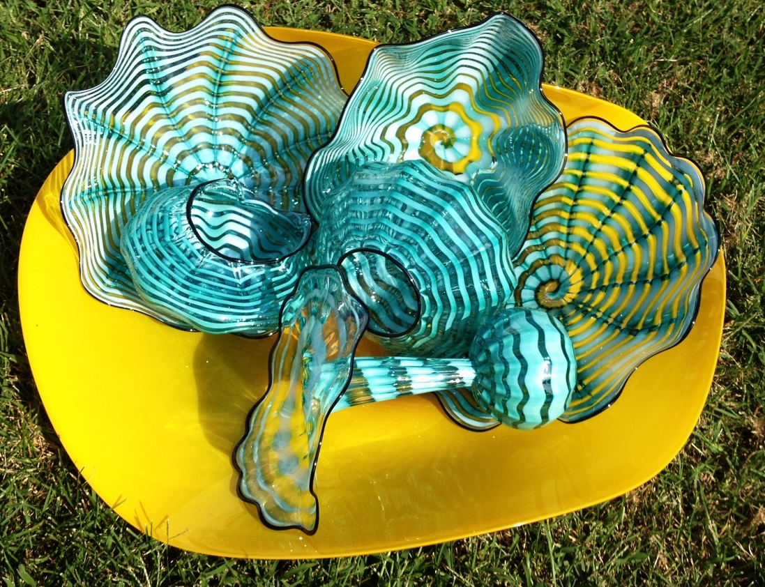 Yellow and Blue Nesting Bowl