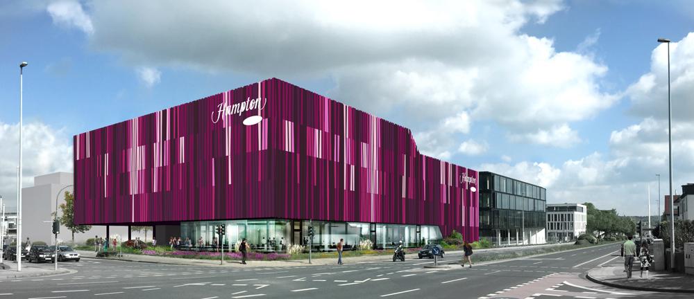 Spatenstich beim Neubau des Hotel Tivoli, Aachen   CROSS Architecture