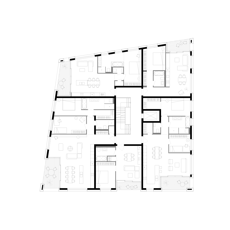Sample floor plan..Beispiel Wohnungsgrundriss