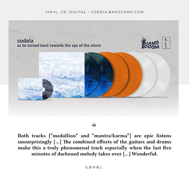 Read @gbhbl's review of @codeia_band's new album here: gbhbl.com/album-review-codeia-as-he-turned-back-towards-the-eye-of-the-storm-hand-of-doom-records-narshardaa-records _  Available digitally, on vinyl and CD at: codeia.bandcamp.com