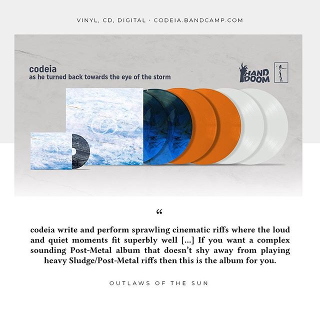 Read Outlaws of the Sun's review of @codeia_band's new album here: outlawsofthesun.blogspot.com/2019/04/codeia-as-he-turned-back-towards-eye-of.html _  Available digitally, on vinyl and CD at: codeia.bandcamp.com