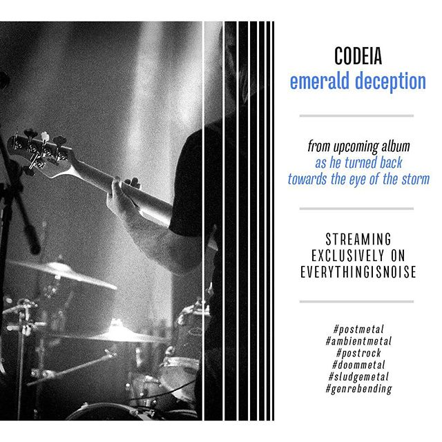 """emerald deception"", the second track from @codeia_band's upcoming album, is now streaming exclusively on Everything Is Noise: everythingisnoise.net/premieres/codeia-unleash-brilliance-in-their-new-song-emerald-deception  Vinyl and digital preorders are also open: codeia.bandcamp.com"