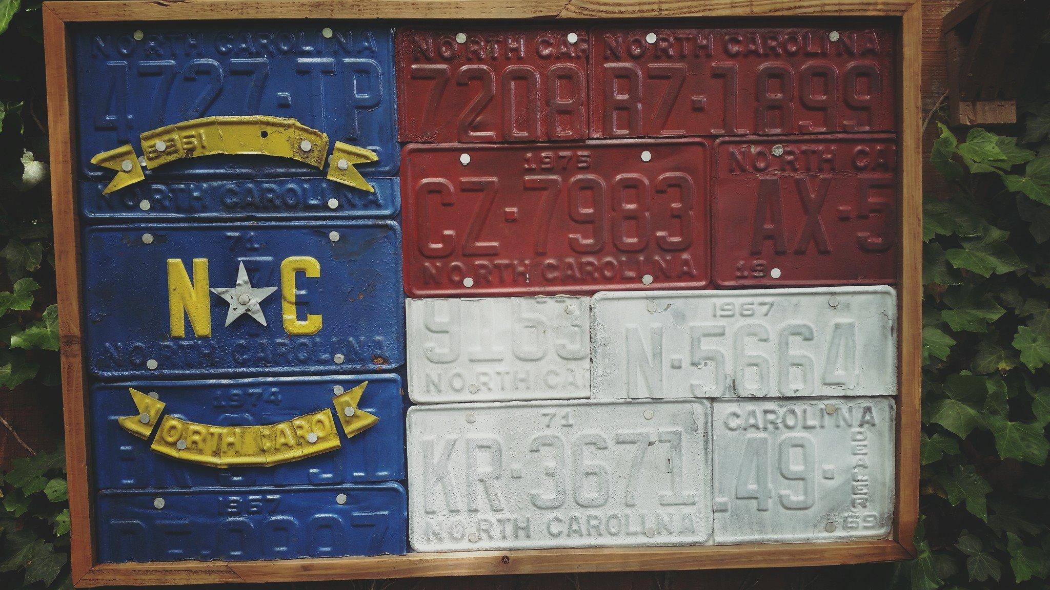 NC License Plate Flag