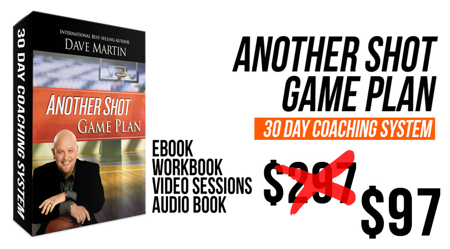 As a special thanks to you for being a part of our Success Made Simple Coaching Sessions you can now purchase The Another Shot Game Plan for only  $97 . That's a savings of $200! Just use the promo code  ATTITUDE  at checkout.