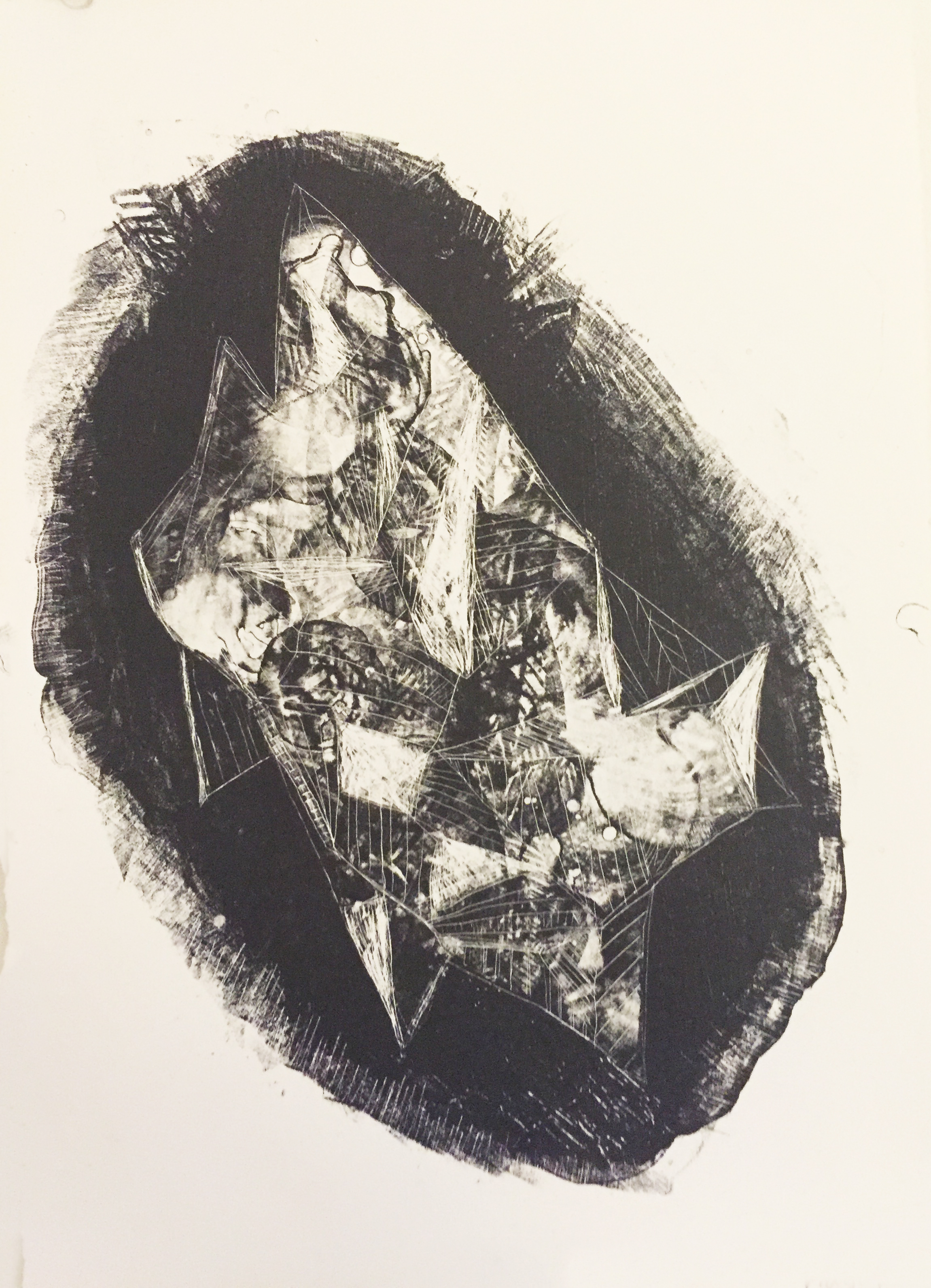 This is an abstract image I created on a lithography stone.