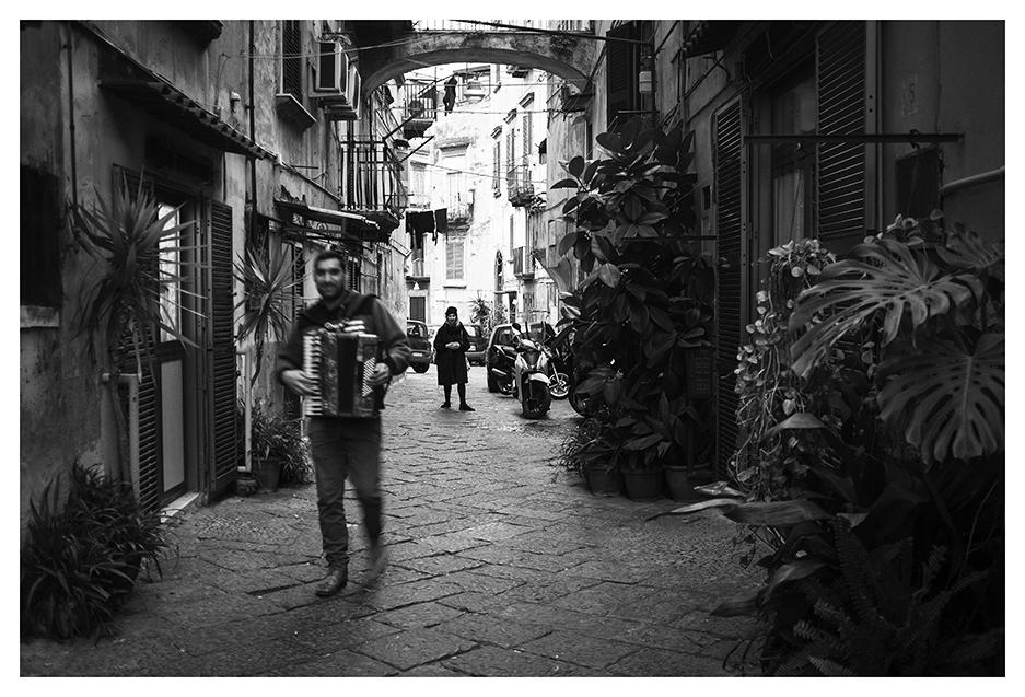Street accordionist