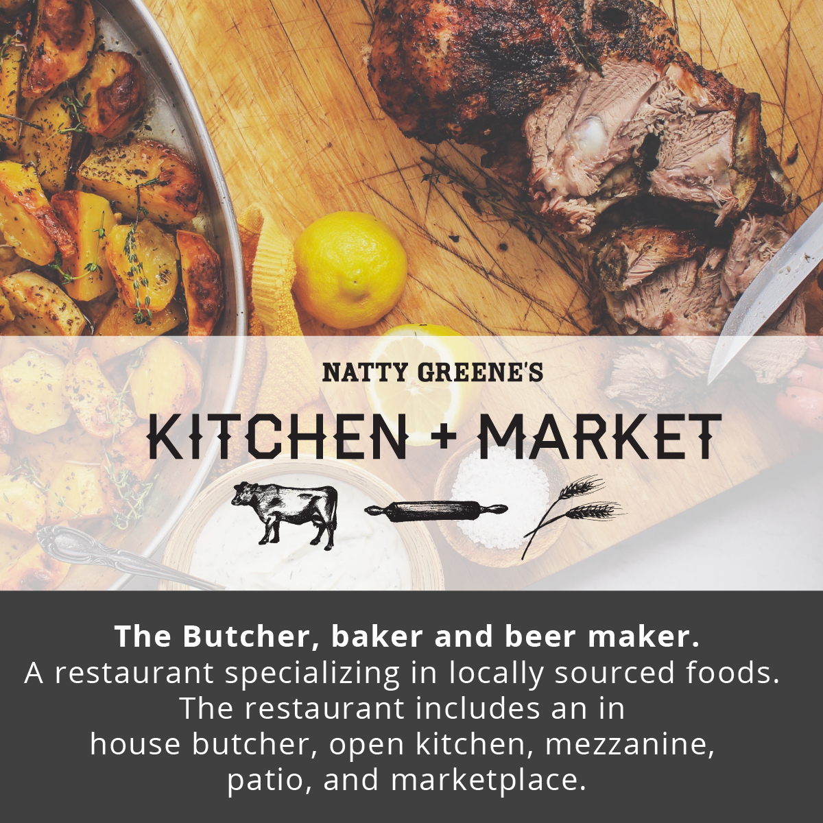 Natty Greene's Kitchen + Market  |  Revolution Mill