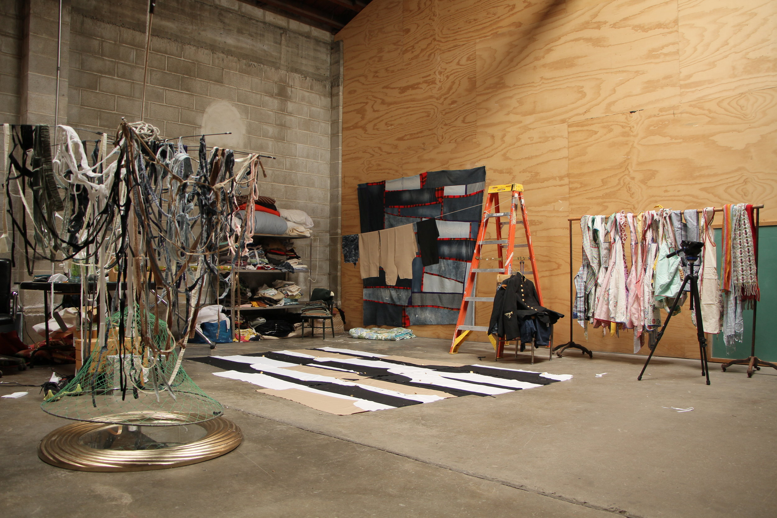 One of the artist in residence studios.