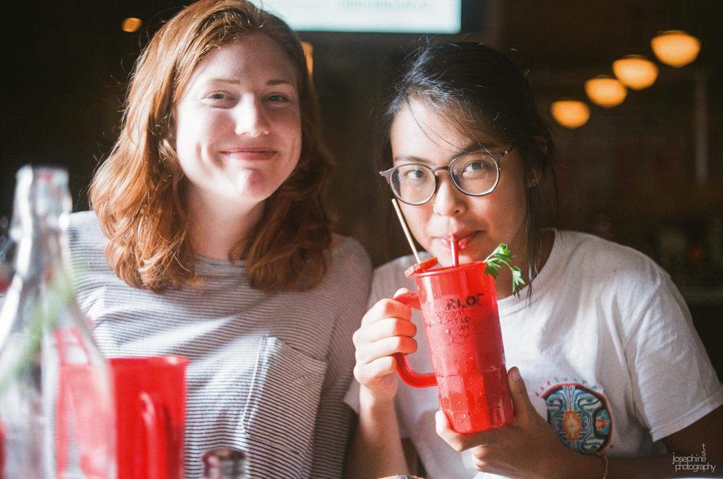 Emma and I at brunch on 35mm