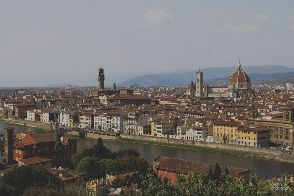 Florence, Italy. The views in Europe never disappoint.