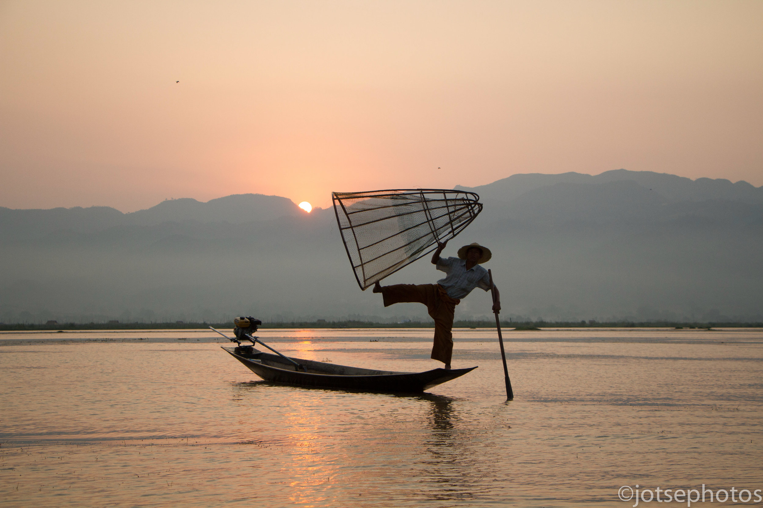 Inle Lake Fisherman  Inle Lake, Myanmar, 05/16