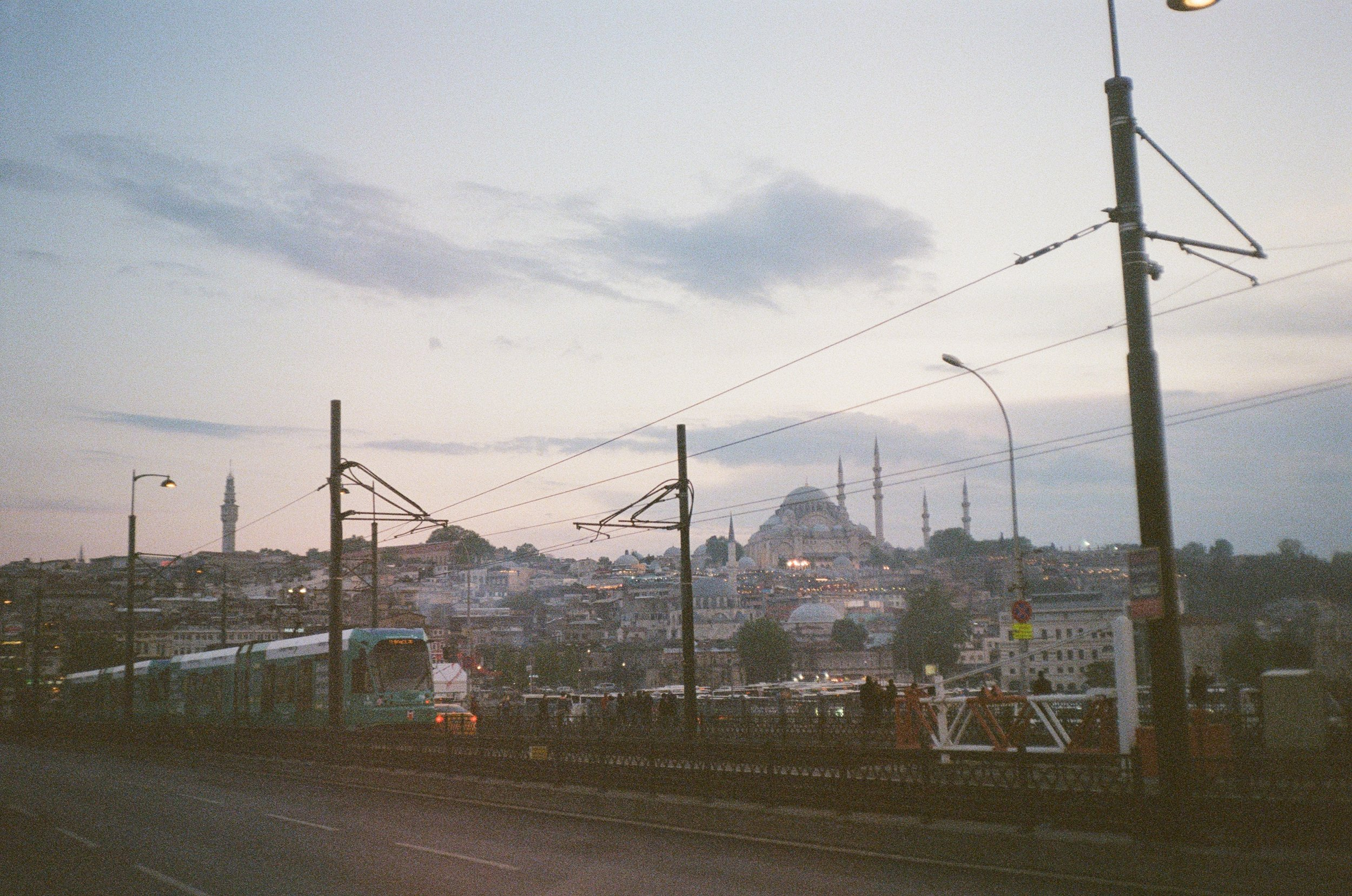 Overlooking Galata Bridge into Eminonu 35mm