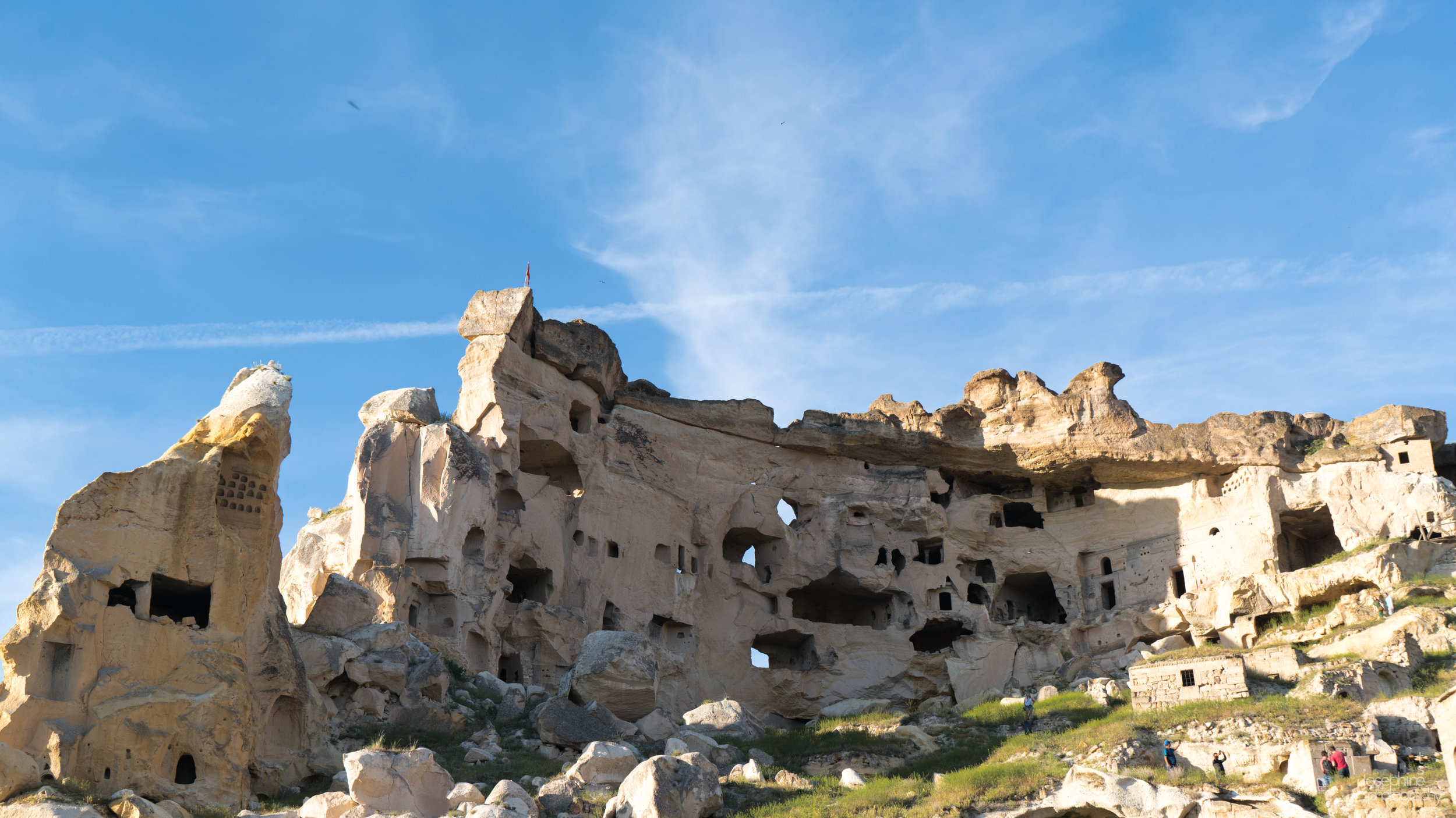 Magnificent cave structures created by volcanic activity in Cappadocia