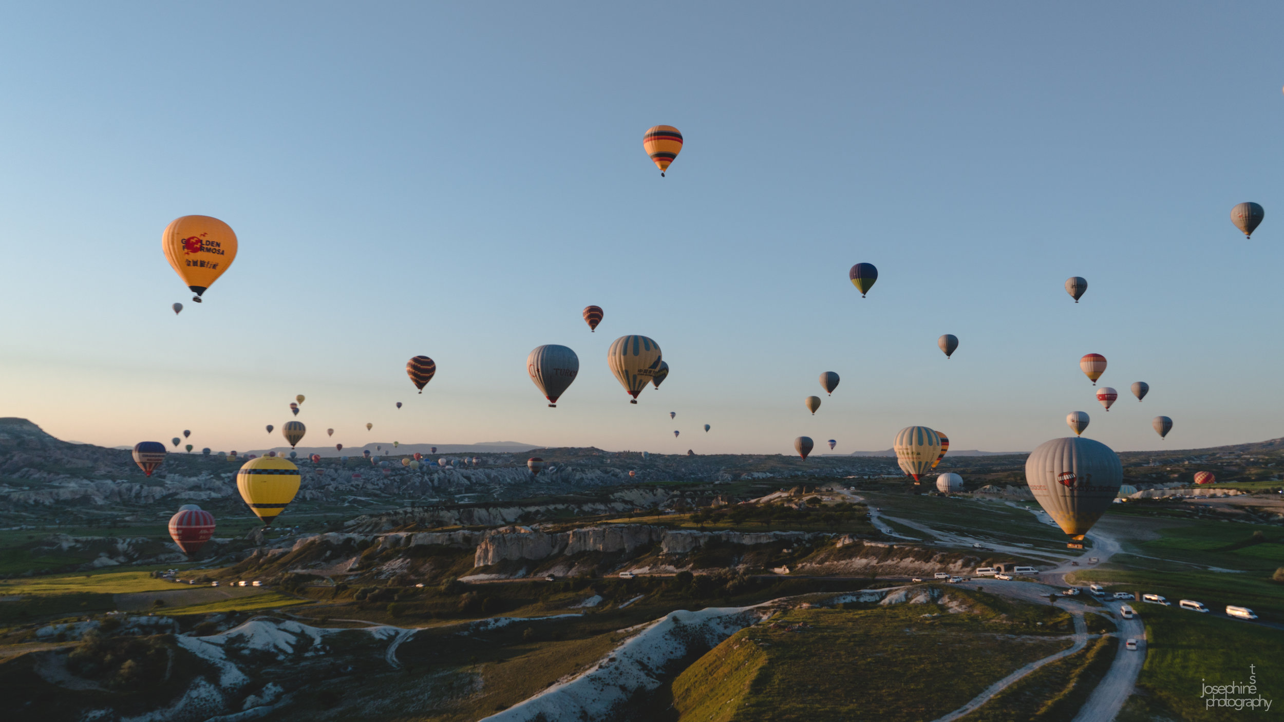Views of Cappadocia from the hot air balloon ride