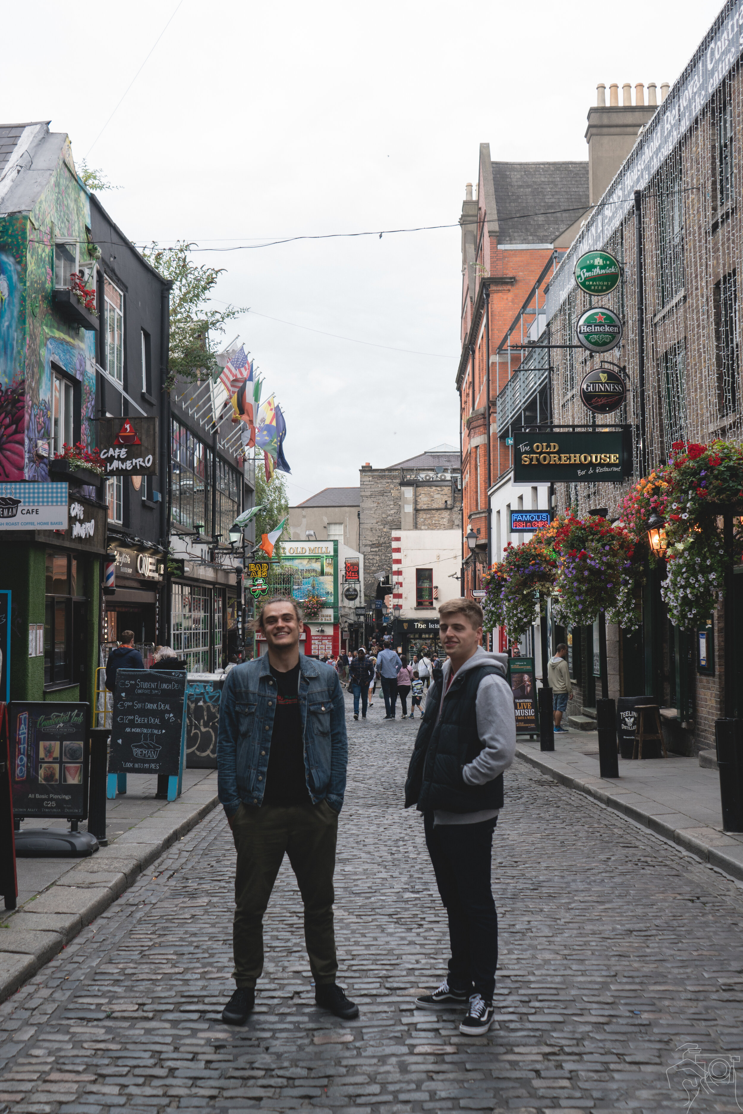 Moritz and Ian around the Temple Bar District