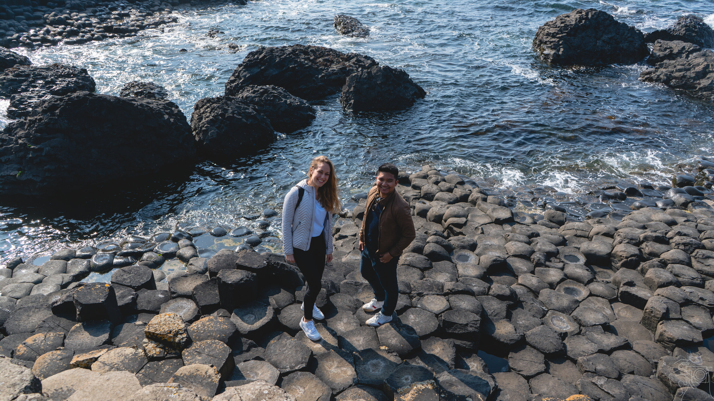 Giant's Causeway with Chiara and Arnold