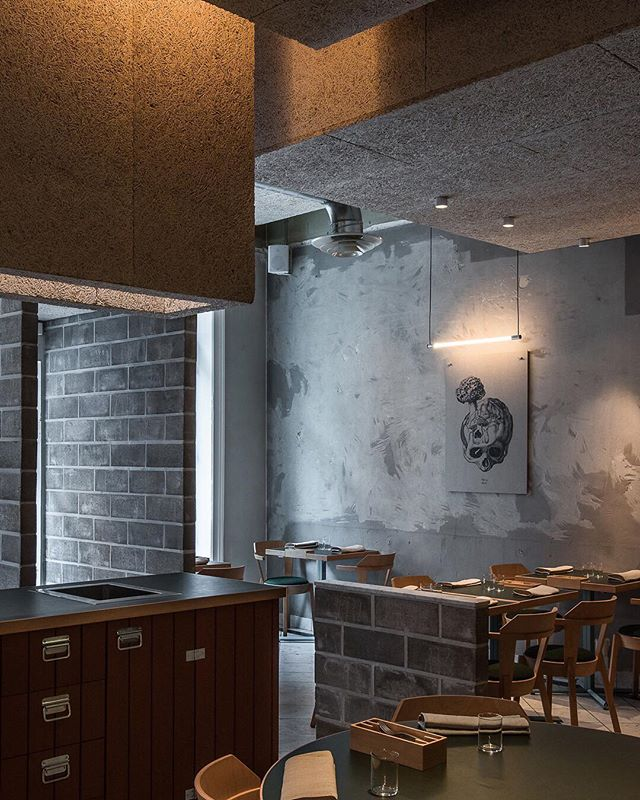 Orbium Acus illuminating art by @atldax at restaurant Volt (Sthlm) Interior by Uglycuty _  #orbium_light #design #lightingdesign #luminaire #technology #engineering #atldax #art #plate34 #restaurangvolt #michelinstar #interior #interiordesign