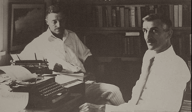 (L-R) Charles Nordhoff & James N. Hall