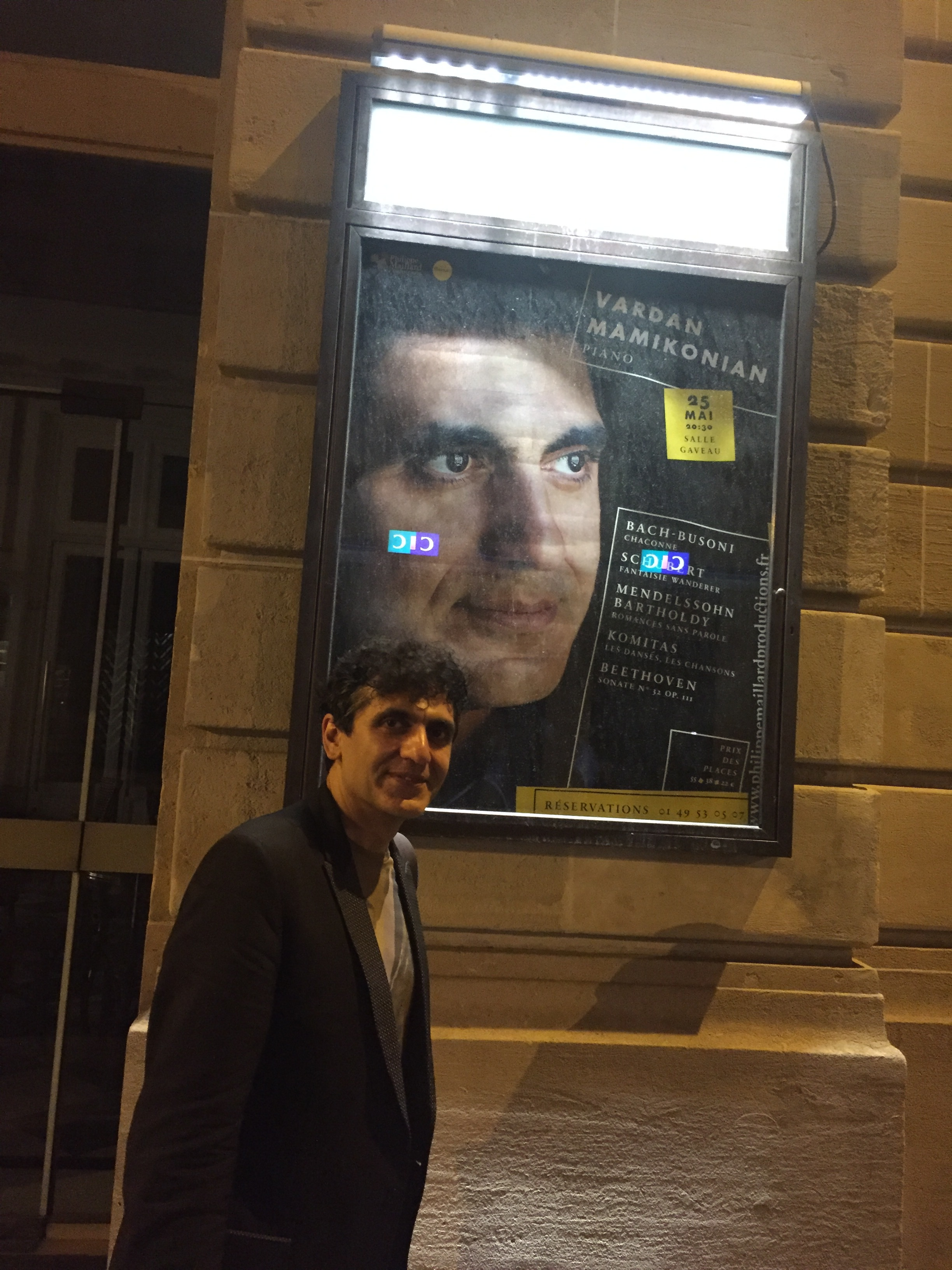 After the recital at Salle Gaveau (Paris) on May 25th
