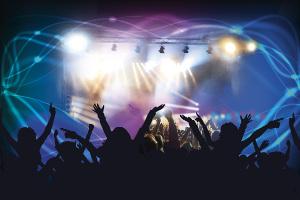 Loud Rock Music Concert