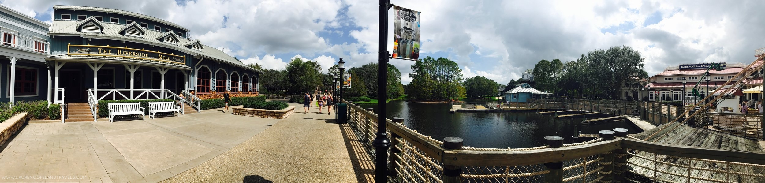 A glimpse of the surroundings inside Disney's Port Orleans: Riverside Resort