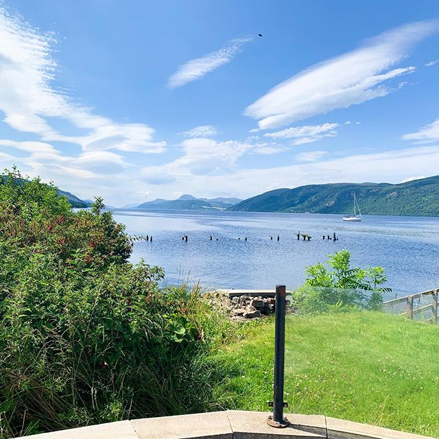 Scotland Vacation Rule #3:  Always stop for some lunch at the 'hole in the wall' along lake Loch Ness.  The view = no regrets  Also, keep an eye out for Nessie 😉