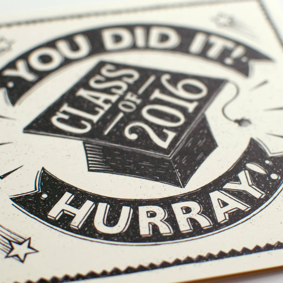 Personalised Graduation Card by  Snowdon Design & Craft , available  here .