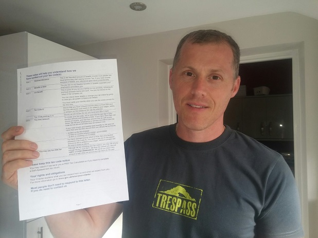 Giles Hembrough with Tax Bill
