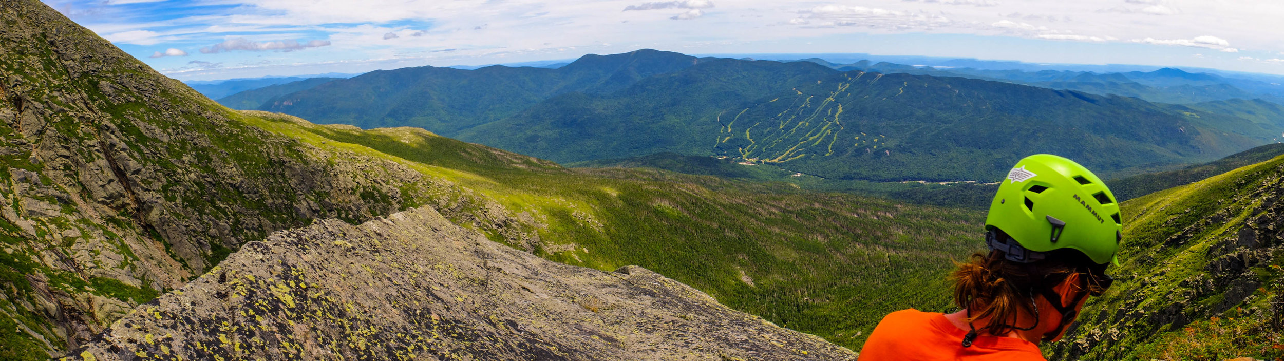 July - Steve admiring the view near the top of the Northeast Ridge of the Pinnacle on Mt. Washington