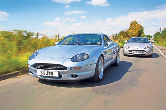 Clash Of The Classics Jaguar Xk8 V Aston Martin Db7 Classic Cars For Sale